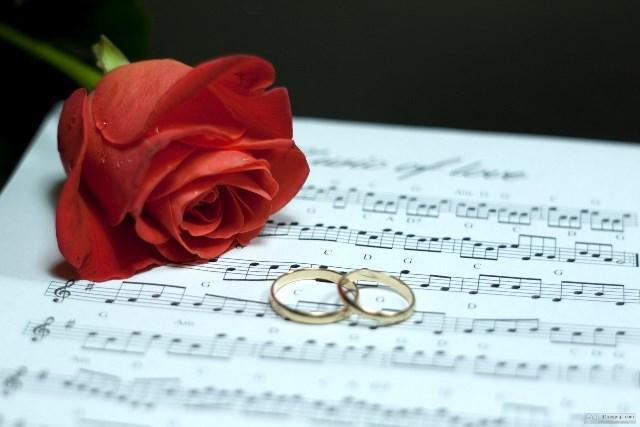 Felicitações em casamento.