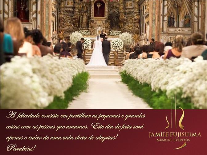 Felicitações ao casal Ana Paula e Cláudio - Musical Casamento Hortolândia
