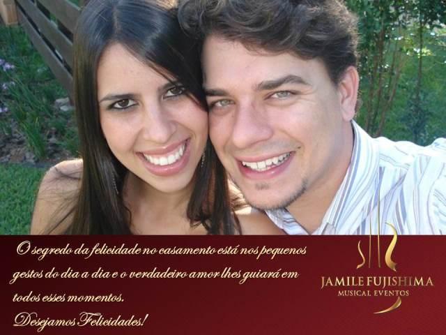 Felicitações ao casal Thalita e Neuris - Banda para Casamento Valinhos