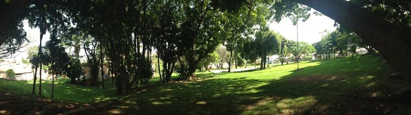 Casarão da Fazenda Jambeiro - Campinas - Vista do jardim para o Casarão