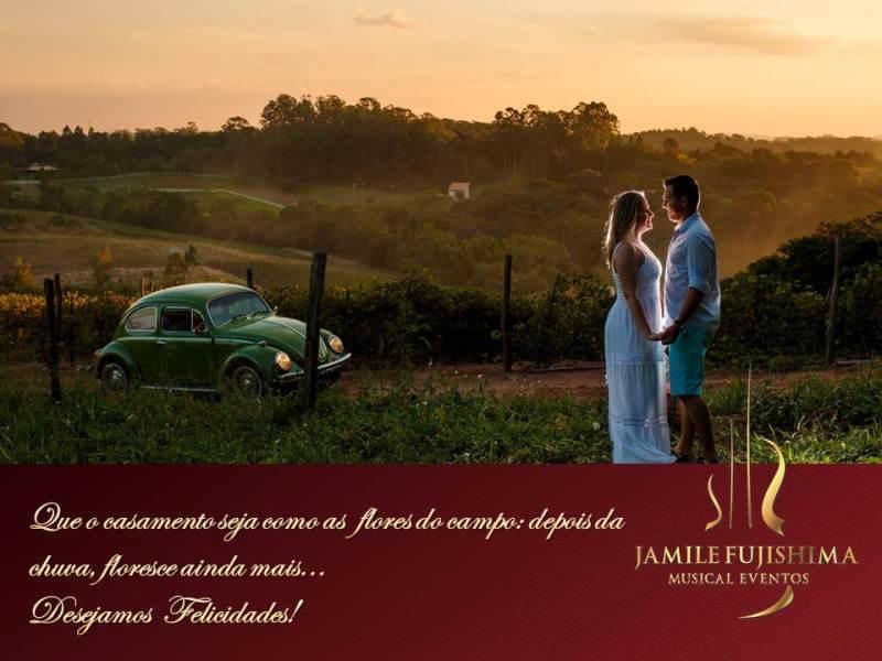 Felicitações ao casal Samara e Denis - Musical Casamento em Louveira