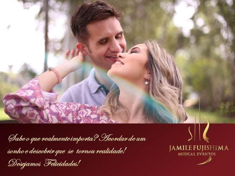 Felicitações ao casal Camila e Luciano - Casamento em Vinhedo