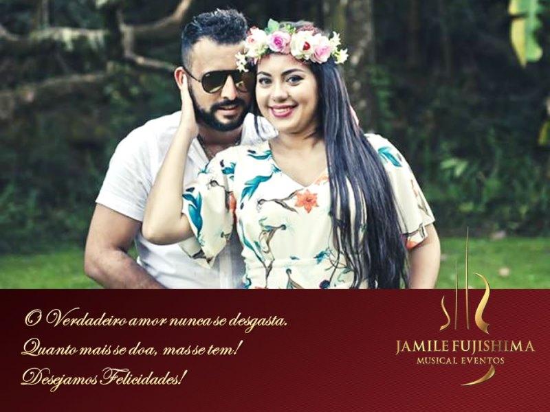 Felicitações ao casal Luana e Filipe - Casamento em Campinas