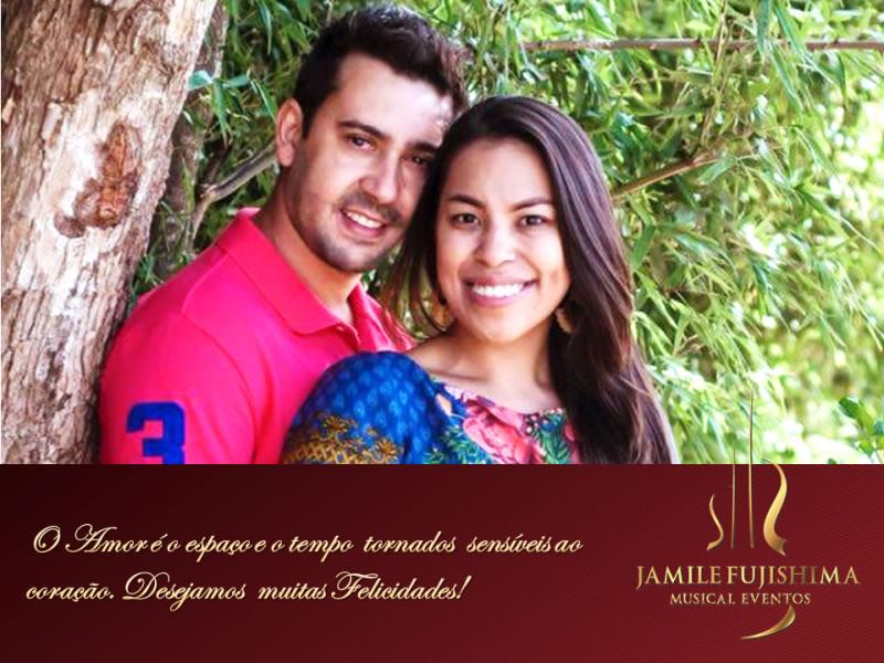 Felicitações ao casal Brunna e Eduardo