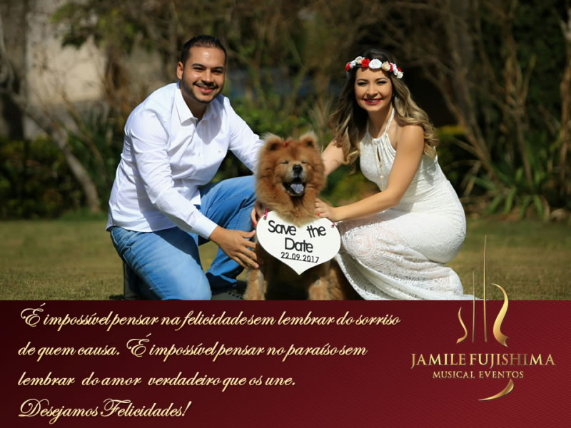Felicitações ao casal Brunna e Leandro