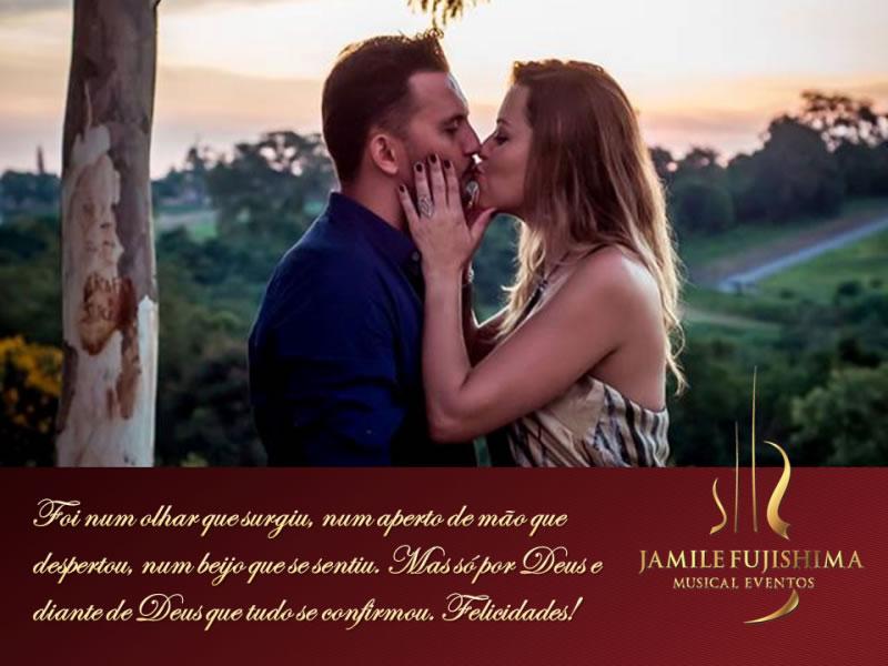 Felicitações ao casal Priscila e Henrique