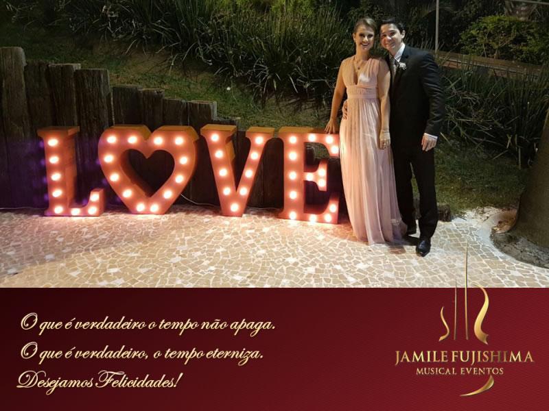 Felicitações ao casal Priscila e Luis Felipe