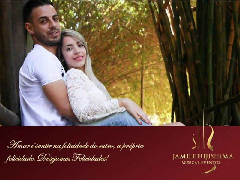 Felicitações ao casal Tamires e Bruno - Casamento em Monte Mor