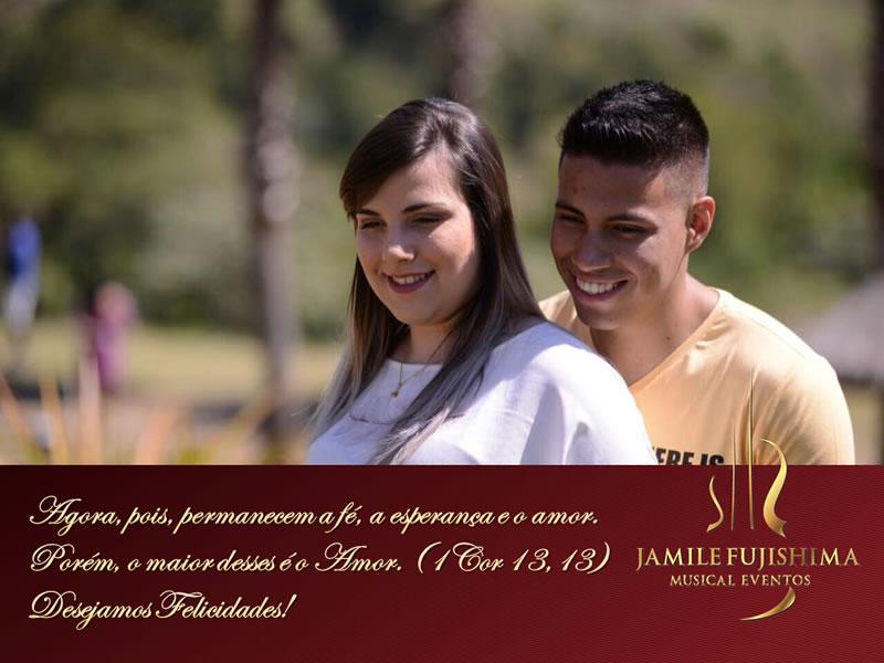 Felicitações ao casal Paloma e Bruno