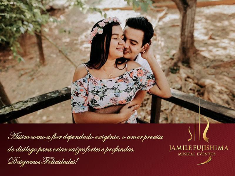Felicitações ao casal Valeria e Douglas