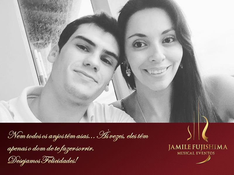 Felicitações ao casal Carolina e Lucas