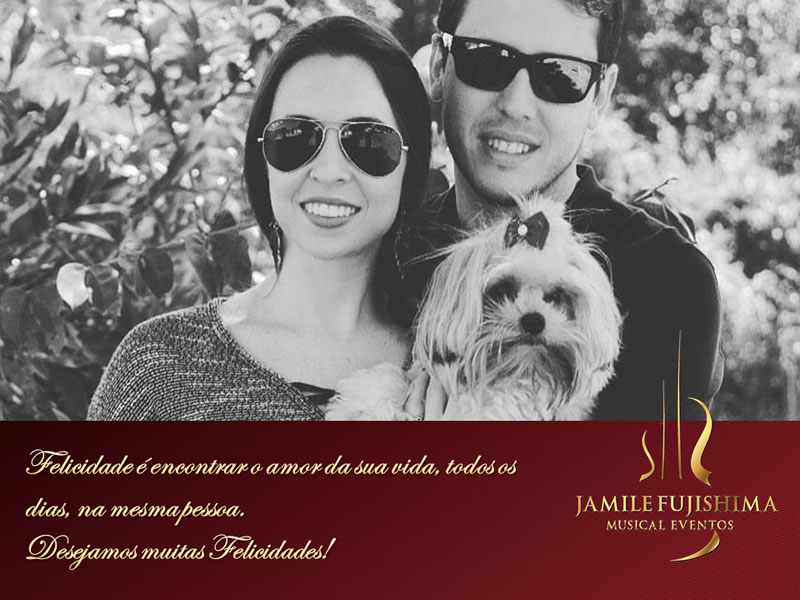 Felicitações ao casal Mariana e Rodrigo