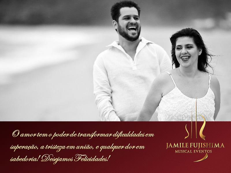Felicitações ao casal Vanessa e Leandro
