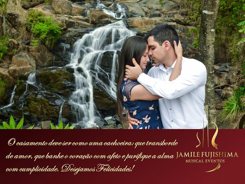 Felicitações ao casal Janaína e Fernando