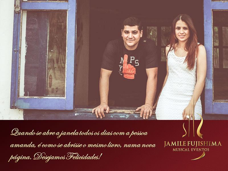 Felicitações ao casal Renata Thiago
