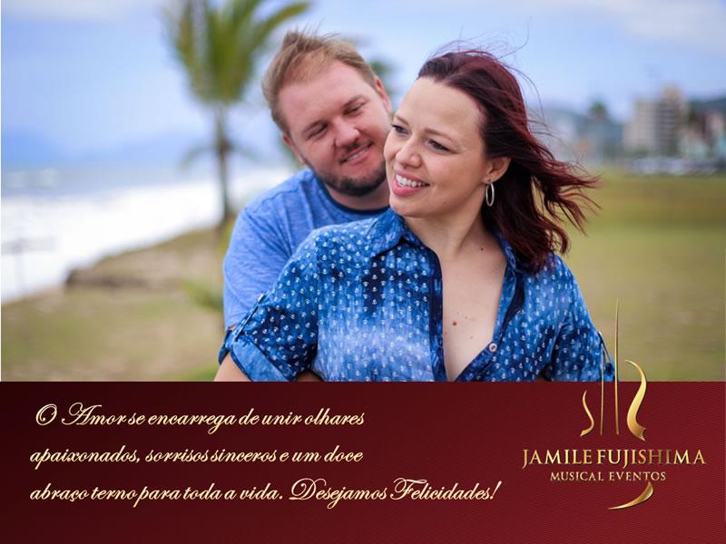 Felicitações ao casal Ivy e Robert