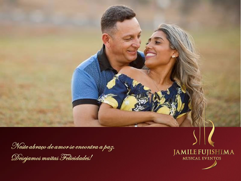 Felicitações ao casal Ana Paula e Carlos