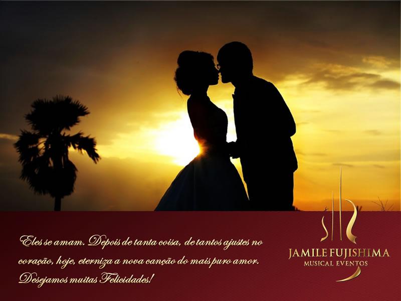 Felicitações ao casal Ana Paula e Ricardo