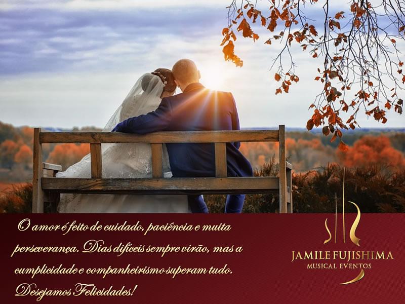 Felicitações ao casal Isabella e Bruno