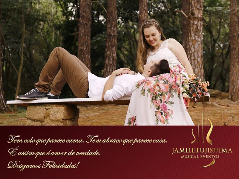 Felicitações ao casal Maiara e Renan
