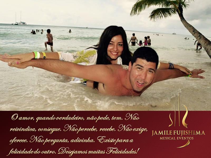 Felicitações ao casal Paula e Bruno