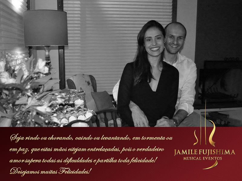 Felicitações ao casal Gabriela e Pedro