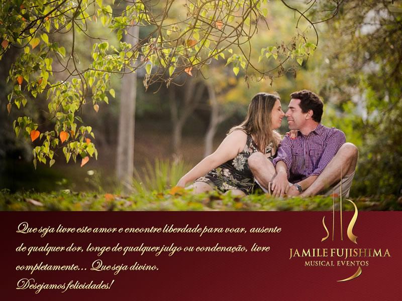 Felicitações ao casal Julia e Fabio